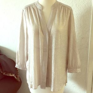 H&M button down shimmer blouse